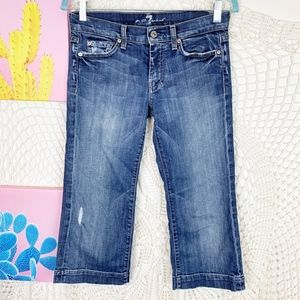 7 For all mankind DOJO medium washed cropped 27
